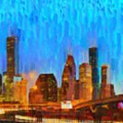 Houston Skyline 80 - Pa Poster