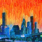 Houston Skyline 81 - Pa Poster