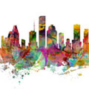 Houston Texas Skyline Panoramic Poster