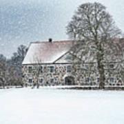 Hovdala Castle Main House In Winter Poster