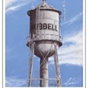 Hubbell Water Tower Poster Poster