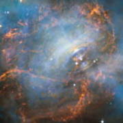 Hubble Captures The Beating Heart Of The Crab Nebula Poster