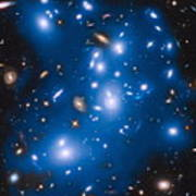 Hubble Sees Ghost Light From Dead Galaxies Poster