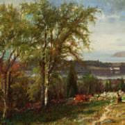 Hudson River At Croton Point Poster