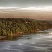 Hudson River Morning Poster