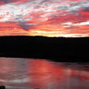 Hudson River Sunrise Poster