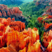 Hues Of The Hoodoos In Bryce Canyon National Park Poster