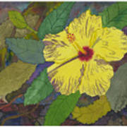 Hula Girl Hibiscus Poster