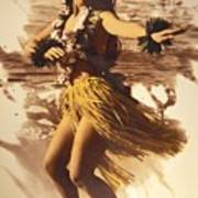 Hula On The Beach Poster