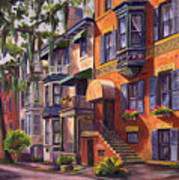 Hull Street In Chippewa Square Savannah Poster