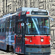 Humber Bound Streetcar On Queen Street Poster