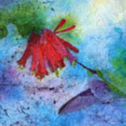 Hummingbird Batik Watercolor Poster