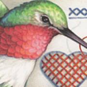 Hummingbird Handiwork Poster