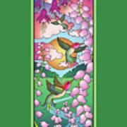 Hummingbird Sunrise Poster