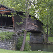 Humpback Covered Bridge In Covington Virginia Poster