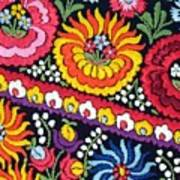 Hungarian Matyo Szentgyorgy Folk Embroidery Photographic Print Poster