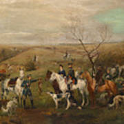 Hunting Party With Tsar Alexander IIi. And Zarina Maria Fedorovna Poster