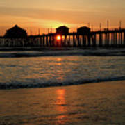Huntington Beach Pier At Sunset Poster