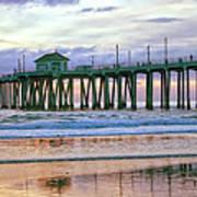 Huntington Beach Pier Panorama Colo Poster