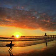 Huntington Beach Pier Sunset Poster