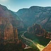 Hurricane Canyon In Utah Usa Poster