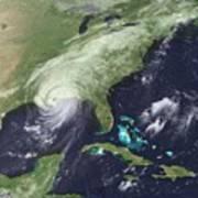 Hurricane Katrina Over Southeast Poster by Everett