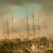 Hussars Embarking At Deptford Poster
