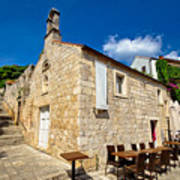 Hvar Old Stone Church And Antic Steps Poster