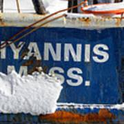Hyannis Massachusetts Fishing Boat Poster