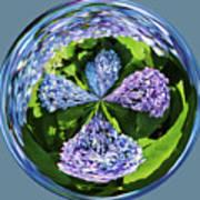 Hydrangea Cross Poster
