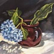 Hydrangea In A Bean Pot Poster