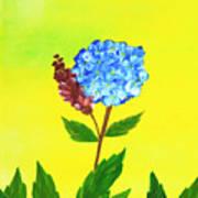 Hydrangea Watercolor Poster
