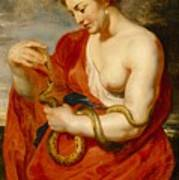 Hygeia - Goddess Of Health Poster by Peter Paul Rubens