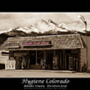 Hygiene Colorado Bw Fine Art Photography Print Poster