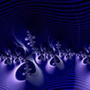 Hypnotique Blue Poster
