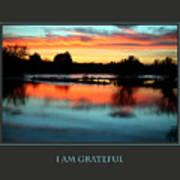 I Am Grateful Poster