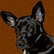 I Hear Ya - Dog Painting Poster