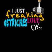 I Just Freaking Love Ostriches Ok Poster
