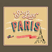 I Love Paris Poster