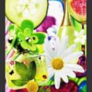 I Love Spring_with Border Poster
