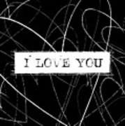 I Love You Word Art Poster