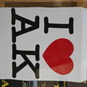 I Luv Alaska  Logo Poster