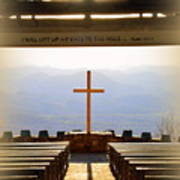 I Will Lift My Eyes To The Hills Psalm 121 1 Vertical 2 Poster