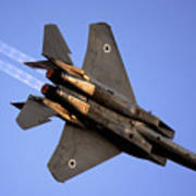 Iaf F15i Fighter Jet On Blue Sky Poster
