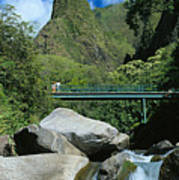 Iao Needle And Creek Poster