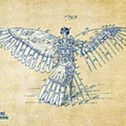Icarus Human Flight Patent Artwork - Vintage Poster