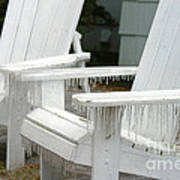 Ice-coated Chairs Poster