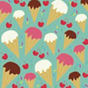 Ice Cream Cones Poster