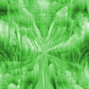Ice Crystal Angel - Green Poster