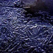 Ice Crystals In River Poster
